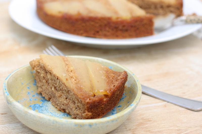Upside Down Pear Cake Vegan Wild For Food